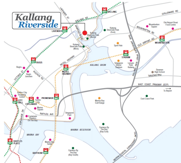 Kallang Riverside - Location Map